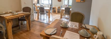 """Enjoy dinner at the <a title=""""Dinner At The Cottage Lodge"""" href=""""http://www.whitetails.co.uk/"""">Whitetails Restaurant</a> at Cottage Lodge"""