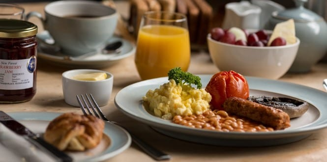 Scrambled eggs as they are served at the Cottage Lodge in Brockenhurst