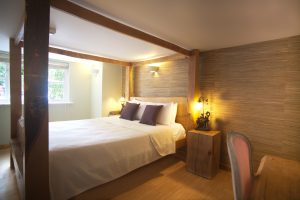 Beautiful dog friendly hotel room at Cottage Lodge Hotel in Brockenhurst