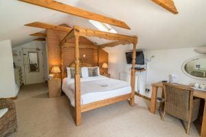 James Hill family friendly four poster bedded room