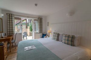 Dog friendly hotel room at Cottage Lodge Hotel in New Forest